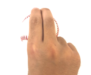 ストレート指をくっつける