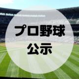 プロ野球の公示