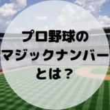 【すぐわかる!】プロ野球の優勝マジックとは?定義や点灯条件、計算方法を解説!